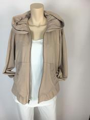 Color Me Cotton CMC Alana Hoodie Jacket Fawn Beige Last One Large