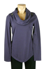 Neon Buddha Cowl Neck Top in Plum