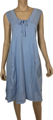 Neon Buddha Market Dress in Pale Sky Blue