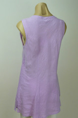 Color Me Cotton CMC Linen Sleeveless Sabrina Top in Lavender