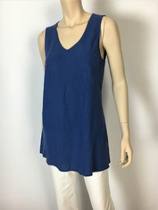 Color Me Cotton CMC Linen Sleeveless Sabrina Top in Indigo