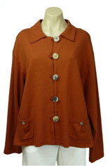 Color Me Cotton Jen Short Jacket Rusty Orange