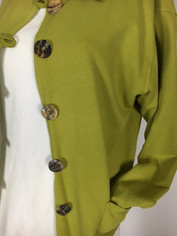 Color Me Cotton French Terry Jen Jacket in Avocado Clearance  Small