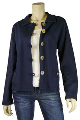 Color Me Cotton Jen Short Jacket Navy Blue