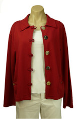 Color Me Cotton CMC Jen Jacket in Deep Red Clearance Price