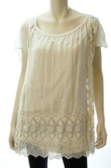 Johnny Was 4 Love and Liberty Silk Tunic Blouse