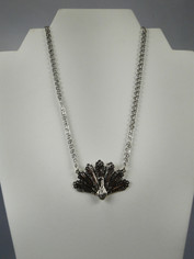 Spoons Silver Peacock Necklace