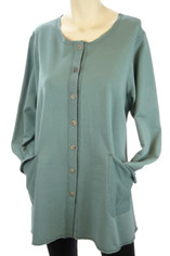 Color Me Cotton CMC Alex Tunic in Pale Pine/Teal Green Last One Small CLEARANCE PRICE