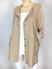 Color Me Cotton Alex Shirt/Jacket Fawn Beige CLEARANCE  Medium