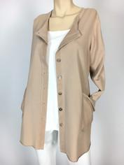 Color Me Cotton Alex Shirt/Jacket Fawn Beige CLEARANCE  Medium