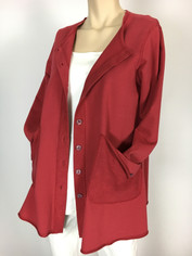 Color Me Cotton CMC Alex Tunic in Red Last One Small CLEARANCE PRICE