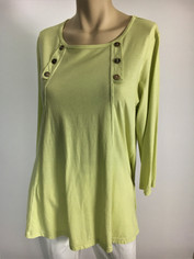 Color Me Cotton CMC Supima Laurie Top in Key Lime Sale