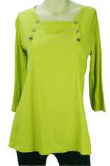 Color Me Cotton Laurie Top in Citrus Lime
