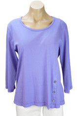 Color Me Cotton CMC Supima Jersey Tenley Top in Lilac on Sale