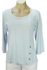 Color Me Cotton CMC Supima Jersey Tenley Top  in Whisper Blue  Sale  Small