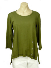 Color Me Cotton CMC Supima Jersey Tenley Top in Avocado on Sale
