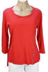 Supima Jersey Tenley Top by Color Me Cotton in Red