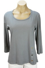 Color Me Cotton CMC Supima Jersey Tenley Top in Grey on Sale