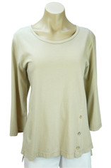 Supima Jersey Tenley Top by Color Me Cotton in Khaki Tan
