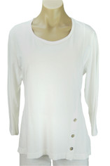 Color Me Cotton CMC Supima Jersey Tenley Top in White on Sale