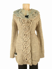 Luxurious Wool Sweater Coat