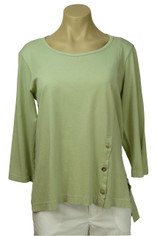 Color Me Cotton CMC  Supima Cotton Tenley Top in Softly Green Last One Small
