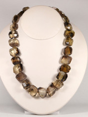 Freeform Chunky Brown Topaz Necklace