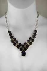 Deep Purple Amethyst Necklace