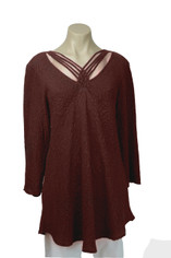 URU Clothing Silk Bias Cut Cruise Style Blouse in Chocolate Brown