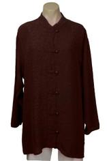 URU Clothing Silk Boat Coat/Blouse in Chocolate Brown (fits L - 1XL) SALE
