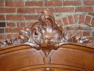 Antique Walnut Hand Carved French Amoire