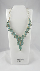 Beautiful Blue Topaz Necklace