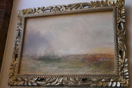 Turner Reproduction on Canvas with Ornate Gold Foil Frame