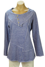 Color Me Cotton CMC Tunic Pullover in Periwinkle  Last One Small