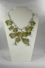 Grape Leaf Splendor Necklace