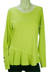 Color Me Cotton Supima Cotton Mary Top in Citrus Green on Sale