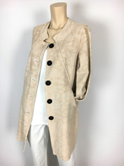 Color Me Cotton CMC Tapestry Coat in Cream  Clearance