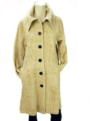 Color Me Cotton CMC Tapestry Coat in Chamois Last One Size Medium/Large CLEARANCE