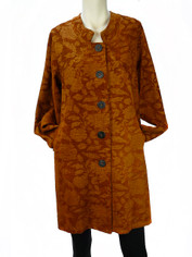 Tapestry Coat in Rust by Color Me Cotton