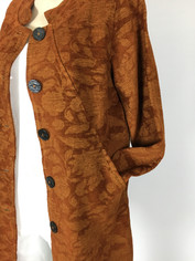 Color Me Cotton CMC Tapestry Coat in Rust Tones Clearance Price