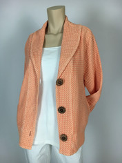 Focus Fashions Classic Waffle Jacket in Mellon Last One size XL Clearance