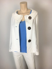 Neon Buddha Weekender Jacket in White