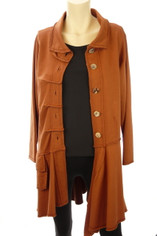 Color Me Cotton CMC Alissa Coat in Rust
