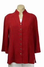 Tencel Joycie Shirt in Deep Red by Tianello
