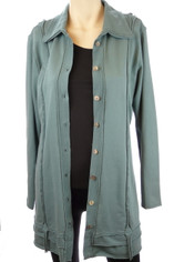 Color Me Cotton CMC French Terry Teal Blue Tunic