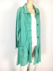 Color Me Cotton CMC Alissa Coat in Aqua Mist Blue