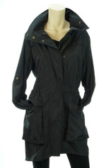 Lightweight Anorak Jacket/Coat in Black MEDIUM