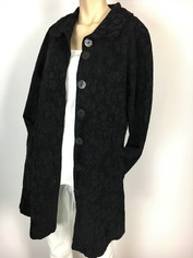 Color Me Cotton CMC Tapestry Coat in Black on Black