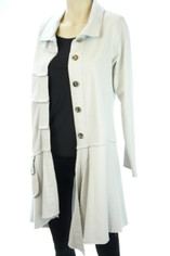 Color Me Cotton CMC Alissa Coat in Dove Grey
