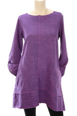 Color Me Cotton CMC French Terry Tunic in Purple Grape  XLarge